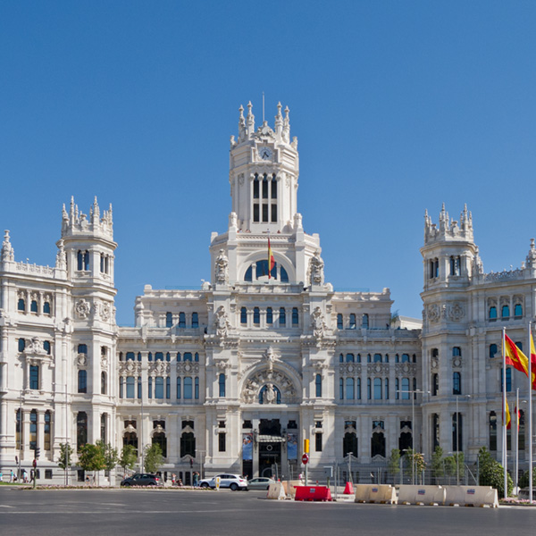 Palacio de Cibiles, Madrid (& main post office of the City of Madrid, Spain)