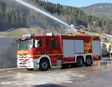 AQUASYS high-pressure unit in the new TLF-A 5000 of voestalpine's fire brigade