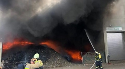 Fire at waste disposal plant - AQUASYS system successfully prevents fire flashover