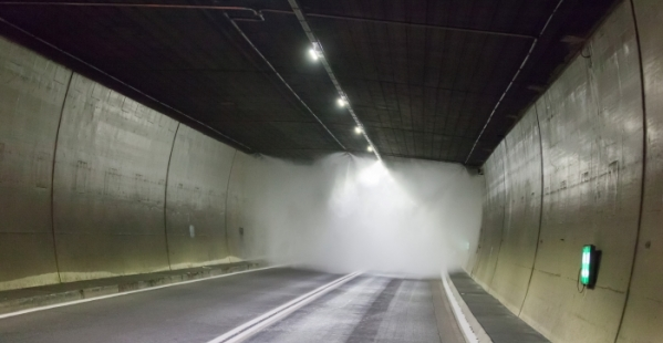 AQUASYS high-pressure water mist again successfully fights a vehicle fire in a motorway tunnel